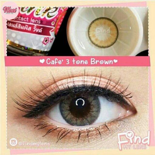 lens-café 3 tone-brown