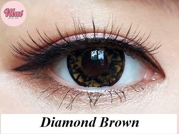 lens diamond brown
