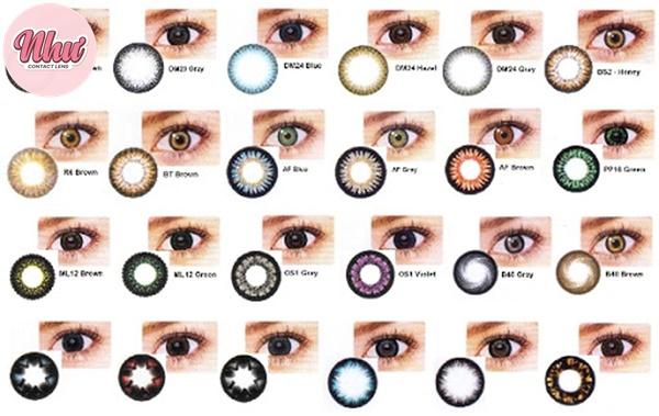 Chọn kính áp tròng theo màu sắc