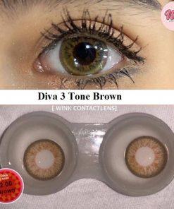 Diva 3 Tone Brown